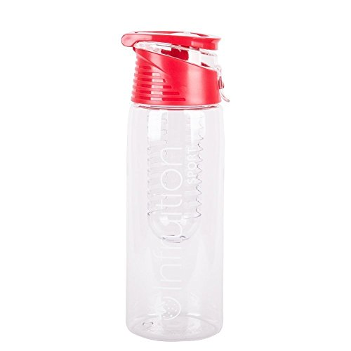 Infruition Sport Obst angereichertes Wasser-Flasche - 700ml - Fire Red (Wasser-flaschen, Obst Halten)