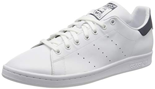 adidas Originals Unisex-Erwachsene Stan Smith Basketballschuhe, Running White/New Navy, 42 2/3 EU