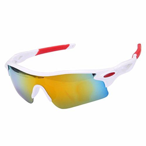 J*myi Mode Farbfilm Sonnenbrille Sportspiegel für Männer und Frauen im Freien Reitbrille Sonnenbrille (J)
