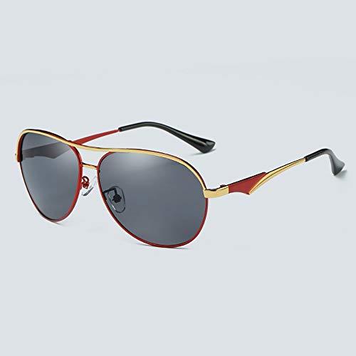 WULE-RYP Polarisierte Sonnenbrille mit UV-Schutz Polarisierte Fischerei Fahren Sonnenbrillen, Mode Sonnenbrillen für Männer Superleichtes Rahmen-Fischen, das Golf fährt (Farbe : Red)