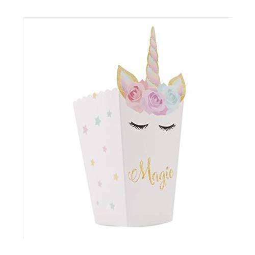 LARRY SHELL 12 Stücke Thema Party Papier Popcorn Box Geschenk Süßigkeiten Tasche Kinder Geburtstag Party Supplies Dekoration