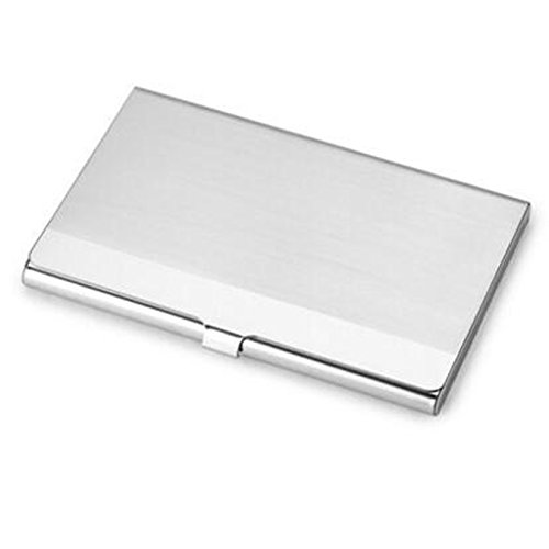 uooom Business Card Case Edelstahl Business ID Name Kreditkarte Halter Schutzhülle (Collector Card Display Case)