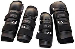 UTTU Racing Fox Motorcycle Bike Racing Riding Knee & Elbow Guard  available at amazon for Rs.325