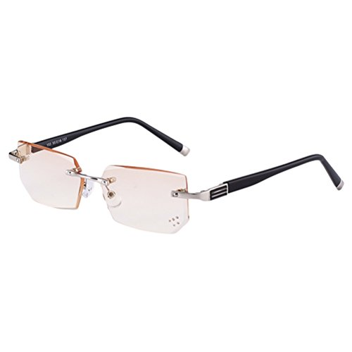 Zhhlaixing Fashion Comfort Herren Randlos Lesehilfen Lesebrille Reading Glasses & Storage Case für Readers 4,0 3,0 1,0 2,0 1,5x
