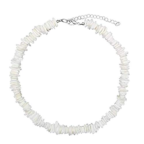 Templom SIX Puka Muschel Halskette Handgemachte Muschelchips Puka Muschel Strand Choker Halskette White Sea Muschel Halskette Hawaiian Beach Jewelry