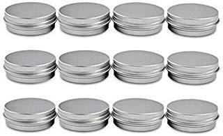 2Oz, 60ml Gramm Jar Aluminium Rund Dosen Kosmetik Probe Metall Dosen leer Container mit Tight versiegelten Twist Screwtop Cover S Unze für LIP BALM Make Up Lip Gloss Lidschatten Puder, 12Stück -