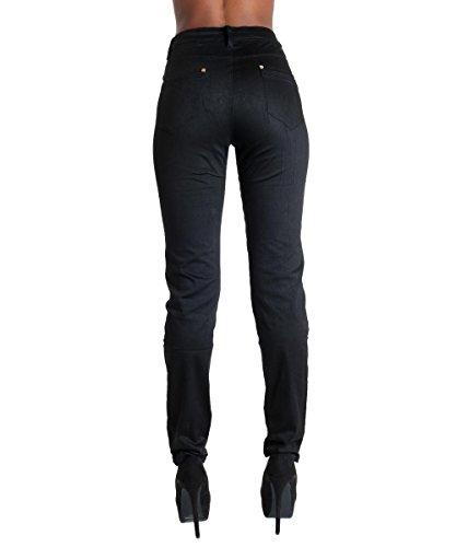 Femmes Mesdames coloré Plus Taille élastique Jeans taille 10–22 Noir