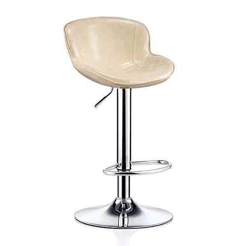 YN Moderner minimalistischer Barstuhl, der den Stuhl-hohen Schemel dreht (Color : White)