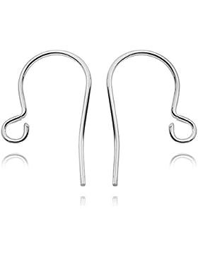 MATERIA 5 Paar Ohrhaken 16mm Fischhaken Silber 925 nickelfrei / / Ersatzteile #Z4