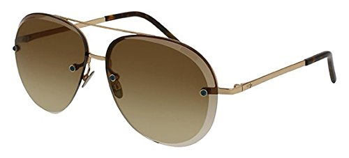 Pomellato pm0027s 002, occhiali da sole donna, oro (002-gold/brown), 60