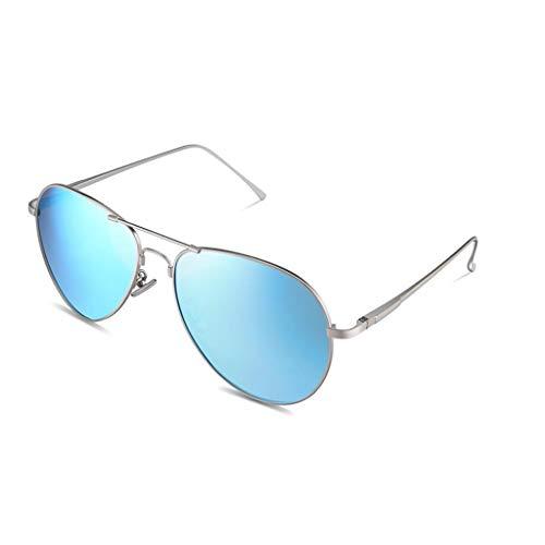 YIWU Brillen Herren Polarisierte Sonnenbrille Sonnenbrille Bright Frog Mirror Driving Driving Fahrer Spiegel Fliegerbrille Brillen & Zubehör (Color : Ice Blue)