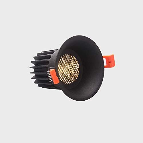 Haupteingang (HviLit Moderner super Heller Deckenstrahler 12W LED vertiefte runde Aluminiumdeckenverkleidungs-Leuchte 3000K / 4000K Punkt-Lampen PFEILER Blendfreies Downlight an der Wand befestigt for Haupteingang)