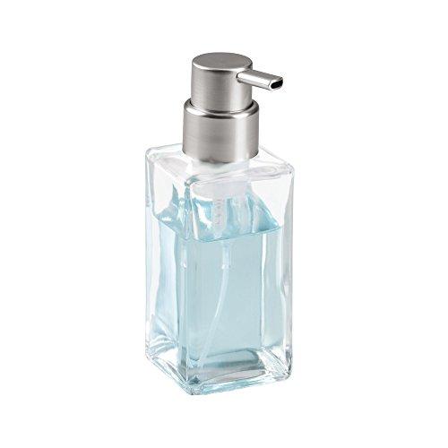 mDesign Schaumseifenspender - Pumpseifenspender aus Glas - ideal für Seife oder als Lotionspender - 414 ml Volumen - durchsichtig