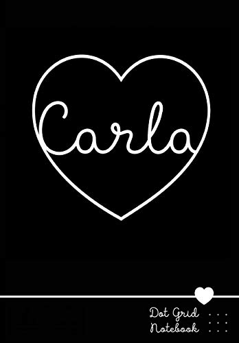 Carla Dot Grid Notebook: Personalized Name Journal | Punktraster Notizbuch mit Namen
