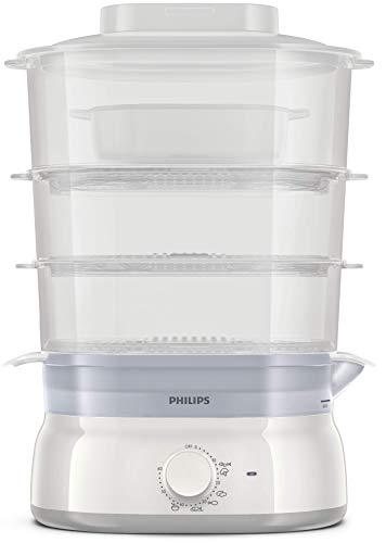 Philips HD9125/90 Vaporiera con Infusore di aromi, 3 cestelli, Capacità 9 L, Senza BPA, 900 W,...