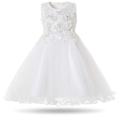 37627f88aaef CIELARKO Vestito Floreale Bambina Matrimonio Principessa Vestito Ragazza  Elegante Estivo Abiti Bambina da Cerimonia 2-. 5 Recensioni