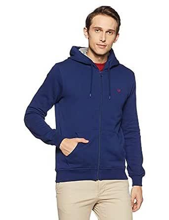 Allen Solly Men's Sweatshirt (ASSTORGP452307S_Skydiver 19-4151TCX)