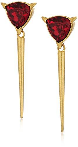 nicole-miller-trilliant-spike-gold-drop-earrings