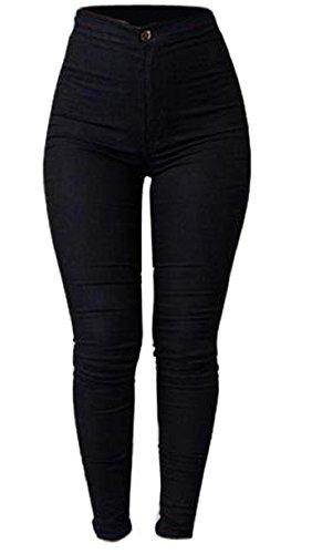 Frauen Denim Jeans, Zolimx Mädchen Multi Farben Jeans Hosen (XL, Schwarz)