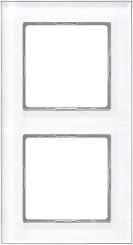 Jung AC 582 GL WW Rahmen Glas 2fach Serie A Creation alpinweiß