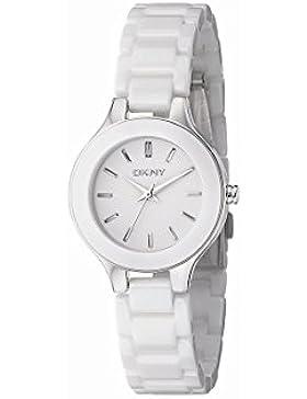 DKNY Damen-Armbanduhr Analog Quarz One Size, weiß, weiß