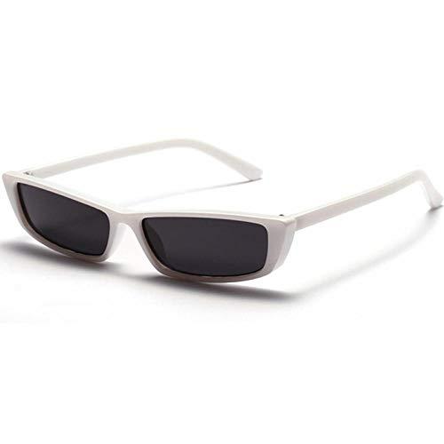 CCTYJ Sonnenbrillen Kleine rechteckige Sonnenbrille Damenmode rot weiß schwarz Sonnenbrille für Damen Sommer uv400-weiß mit schwarz