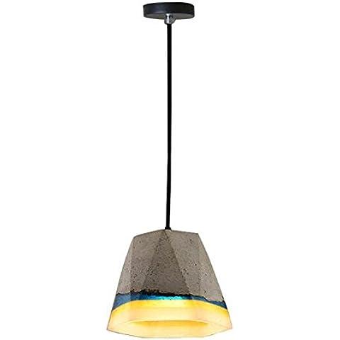 BJVB Singolo legare cemento lampada lampadario Lampada da soffitto lampada D200 * H170MM