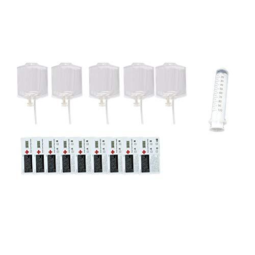 loween Blutbeutel Mehrweggetränkebehälter mit Spritze ()