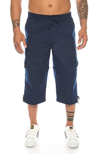 7c24e5ac1c77b5 Kendindza Herren Bermuda | abnehmbare Beine Zipp-Off von 3/4 in Kurze Hose  (Blau | Muster 1, XL)
