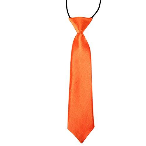 CellDeal-Cravate Élastique des enfants pour mariage Orange Foncé