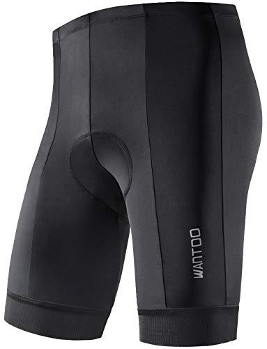 Bike-shorts-leggings (Wantdo Herren Radhose Kurz Trocken Atmungsaktive 8D Padded Anti-Rutsch Rididng Bike Shorts Radfahren Hosen Leggings Strumpfhosen Schwarz X-Large)