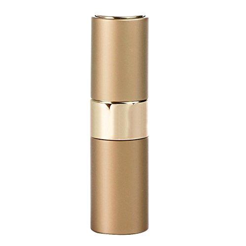 Preisvergleich Produktbild Minkoll Nachfüllbare Parfüm Sprühflaschen,  15ml Tragbare Mini leere Reise Zerstäuber Duft Metall Shell (Gold)