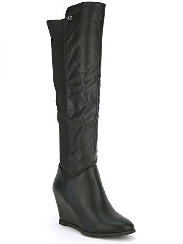 Cendriyon, Cuissarde Noire LADYNA Fashion Chaussures Femme Noir