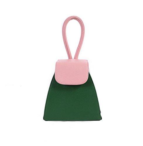 borsa catena YANX signora modo di colore della borsa dell'unità di elaborazione signore spalla Tote BYXin abbigliamento moda PU colore catena borsa borsetta borsa a tracolla borsa a mano , black Green