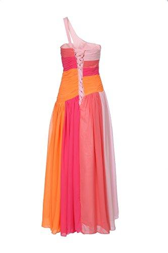 ROBLORA,Robe De Cérémonie Soirée Cocktail Mariage Robe Demoiselle D'honneur light01 Epaule rose