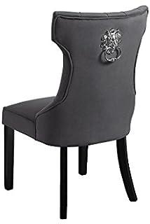 My Furniture Positano Esszimmerstuhl Mit Ring Grau Amazon De