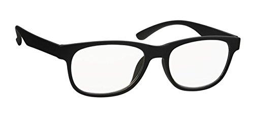 Lesehilfe URD061FA15 Lesebrille Unisex Damen Herren Fertigbrille in +1.50 Dioptrien 1 5 - Farbe schwarz