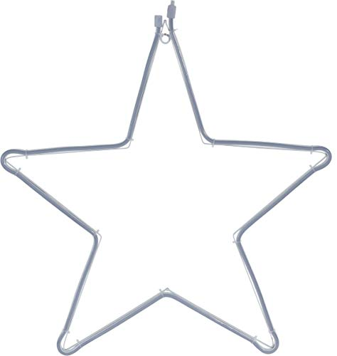 D kaltweiß - 57x55 cm - Neon Lichtschlauch Star beleuchtet Außen Weihnachtsdeko ()