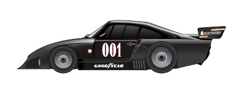 True Scale Dickie de Dickie-Schuco 413311002 Porsche 935 K4 # 001 - 1980 - 1: 43 interscope, Resin, Negro
