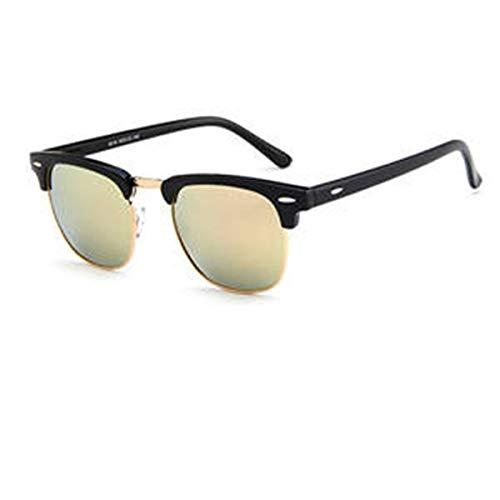 Tianzhiyi Draussen Unisex-Sonnenbrillen Vintage Metall + PC-Rahmen Retro Eyewear Square Frame Brillen für Männer und Frauen (Color : Pink)