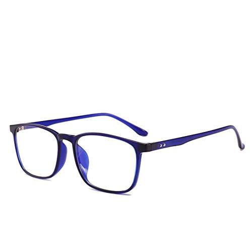 Shiduoli Anti-Blue-Light-Brillen für Männer und Frauen Mode Brillen sind Nicht verschreibungspflichtige Brillen (Color : Blue)