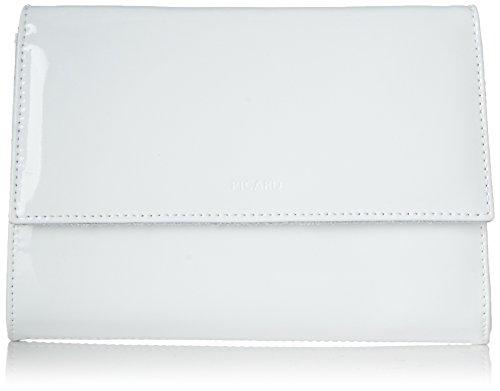 Picard Damen Auguri Umhängetasche, Weiss-Lack, 3x13x19 cm - Leder Mini-clutch