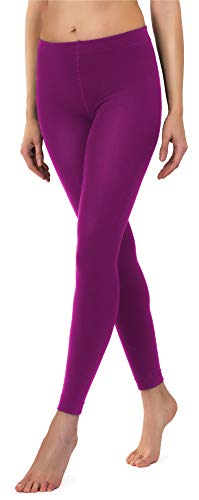 Merry Style Damen Thermo Leggings mit Innenfleece 24555 Extra Warm (Aubergine (Leggings), 44/46)