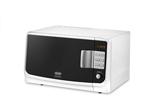 De Longhi MW25GS Mikrowelle, Farbe Schale und innen weiß (Weiße Mikrowelle Farbe)