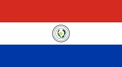 magFlags Flagge: XXS Paraguay   Querformat Fahne   0.24m²   35x65cm » Fahne 100% Made in Germany