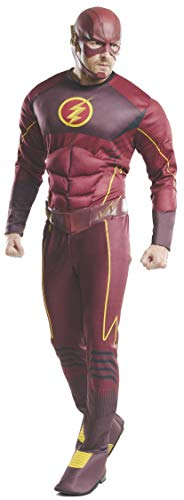 Männer Kostüm Flash - Rubie's 3810394 - The Flash Deluxe - Adult, Action Dress Ups und Zubehör, One Size