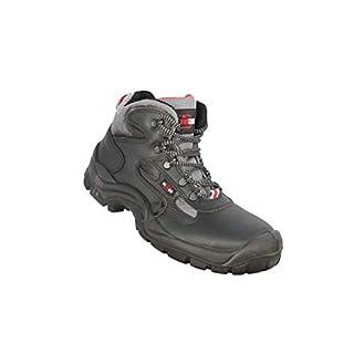 Almar Bauschuhe S3 Safety Shoes Work Shoes high Black, Size:42 EU