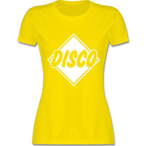 Festival - Disco - M - Lemon Gelb - L191 - Damen Tshirt und Frauen T-Shirt