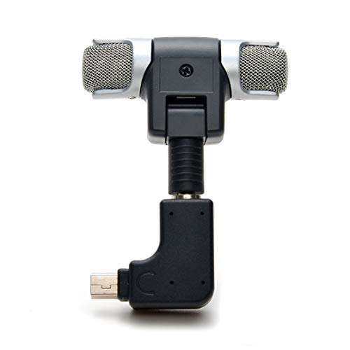 Features:High Quality 3.5mm Plug Mini Stereo Microphone with 3.5mm to mini USB Micro Adapter.Dual head design, capture sound more effectively.Maximum conductivity and minimum noise.Direct connection to recorder, provides faster, easier recording sess...