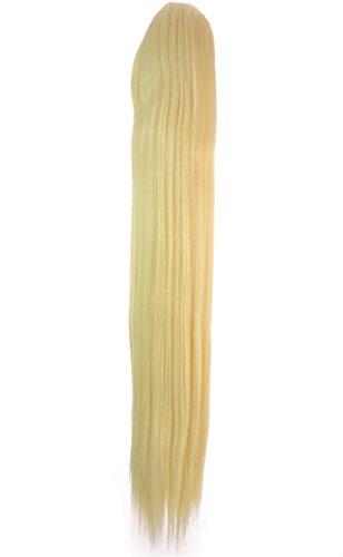 Hair By MissTresses Longue Blond décoloré Queue de cheval postiche haute température Fibre 53,3 cm